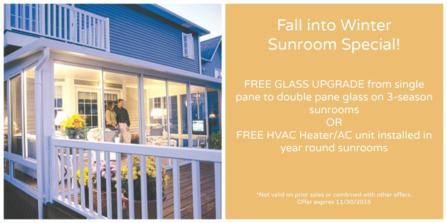 Fall into Winter Sunroom Special