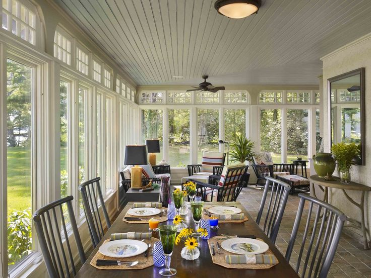 Dining room sunroom ideas care free sunrooms for Front room dining room ideas