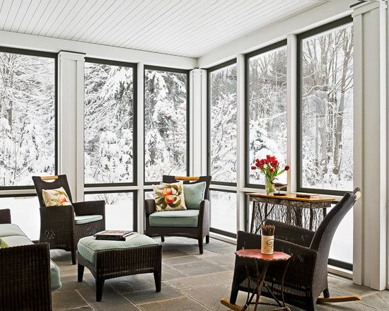 Sunrooms to beat the winter blues care free sunrooms for What is a 3 season porch