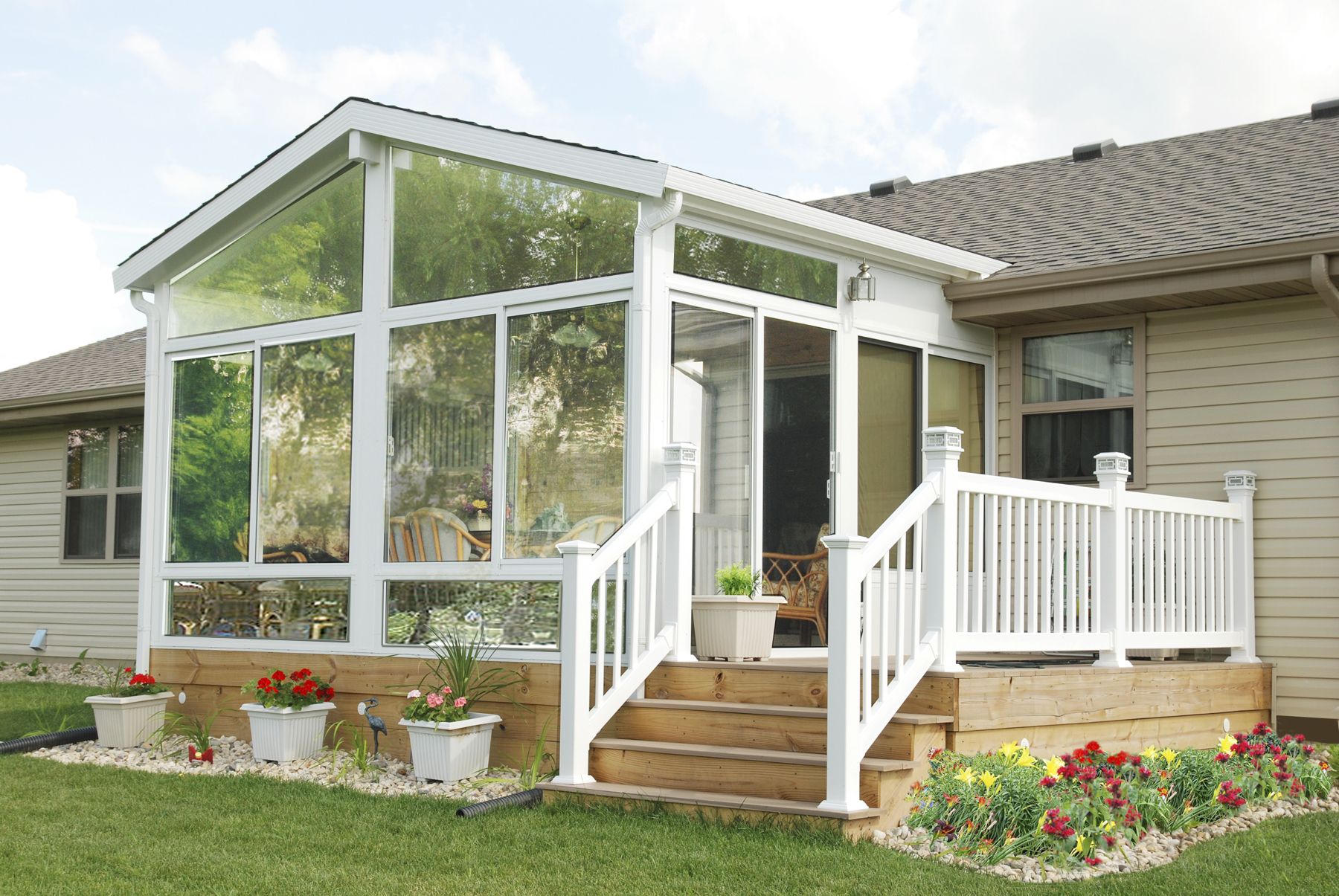 A frame style sunrooms cape cod care free sunrooms for Sunroom roofs