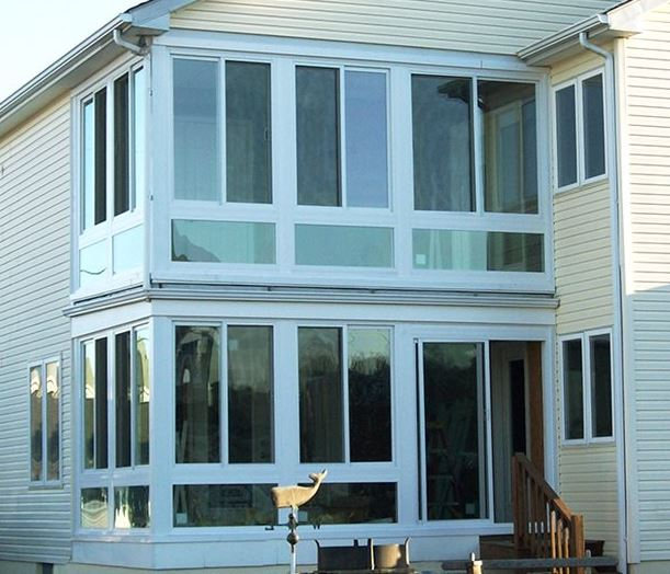 Two story sunroom ideas care free sunrooms Two story sunroom